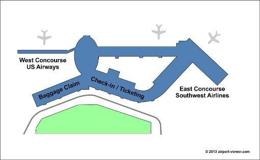 Macarthur Airport Terminal Map